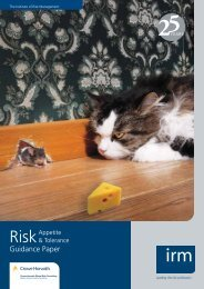 Guidance Paper - The Institute of Risk Management