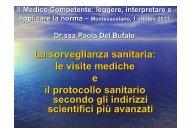 Sorveglianza sanitaria MONTECASSIANO 2011