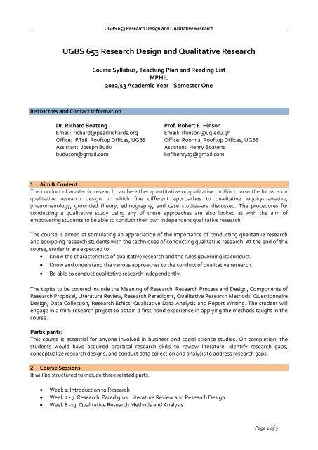 Ugbs 653 Research Design And Qualitative Viva University
