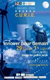 Plaquette du congrès - Bretagne Innovation