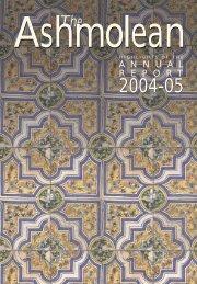 A N N U A L R E P O R T - The Ashmolean Museum