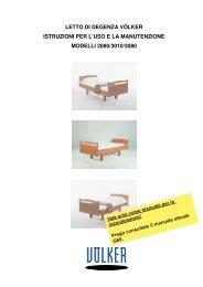 letto di degenza völker istruzioni per l'uso e la manutenzione modelli ...