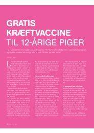 gratis kræftvaccine til 12-årige piger - gynækolog christine felding