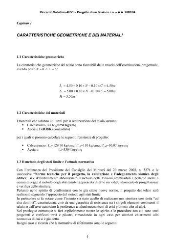un altro esempio di predimensionamento - enzomartinelli.eu