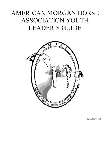 Youth Leader's Guide - American Morgan Horse Association