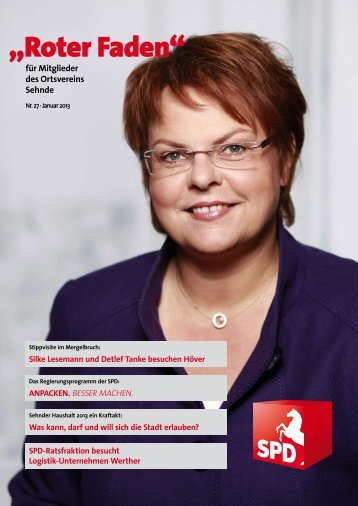 Roter Faden Ausgabe 01 2013 - SPD-Ortsverein Sehnde