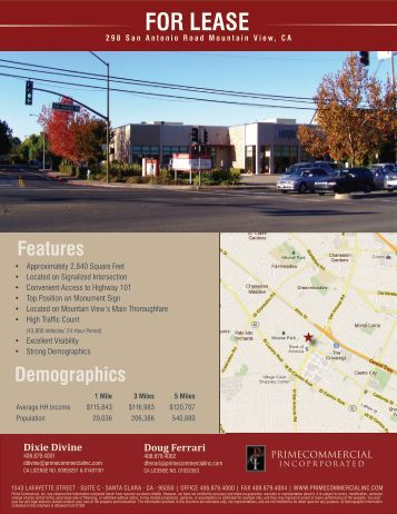FOR LEASE - Prime Commercial, Inc