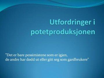 Potetprodusent Kjell Erik Kordal