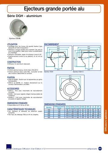 Ejecteurs grande portée aluminium - Aldes