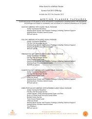 MEETING PLANNER PACKAGES - Buffalo Thunder Resort & Casino