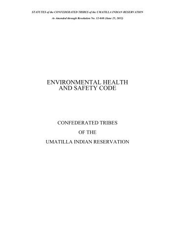 Environmental Health Code - Confederated Tribes of the Umatilla ...