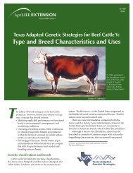 V: Type and Breed Characteristics and Uses - Department of Animal ...