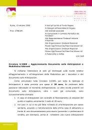 Circolare 4/2009 – Aggiornamento Documento sulle ... - Pegaso