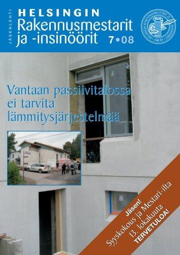 Yhdistyksen jäsenlehti 7/08, PDF tiedosto - Helsingin ...