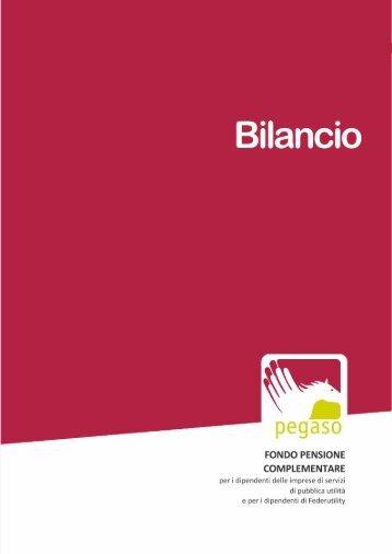 Bilancio esercizio 2012 - Fondo Pegaso