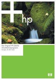 Das Original HP Zubehör Umweltschutzprogramm - Sommersoft