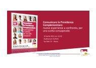 Presentazioni Seminario 19 aprile 2012 - Fondo Pegaso