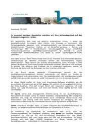 Newsletter 03/2009 In unserem heutigen Newsletter möchten wir ...
