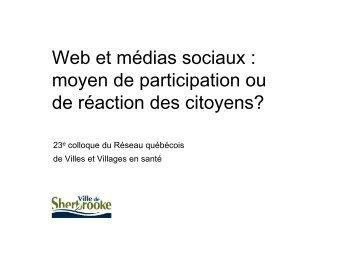 Présentation (PDF 2,18 Mo) - Réseau québécois des villes et ...