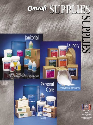 Supplies - Floor Care, Laundry, Personal Care, Maintenance - Corcraft