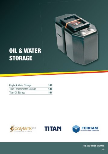 OIL & WATER STORAGE - City Plumbing Supplies
