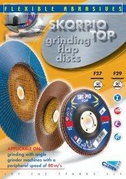 Scorpio Top grinding flap discs
