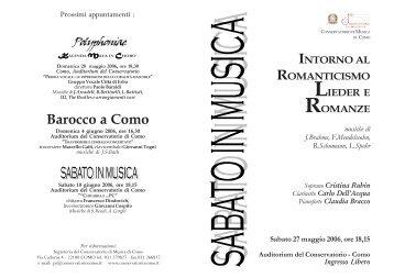 Lieder - Conservatorio di Como