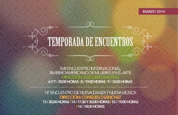 ENCUENTROS - Coordinacion Nacional de Danza - Instituto ...