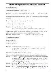 Distributivgesetz / Binomische Formeln