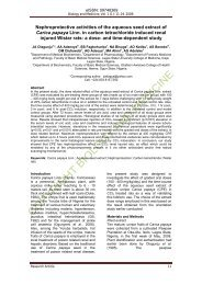 Nephroprotective activities of the aqueous seed extract of Carica ...