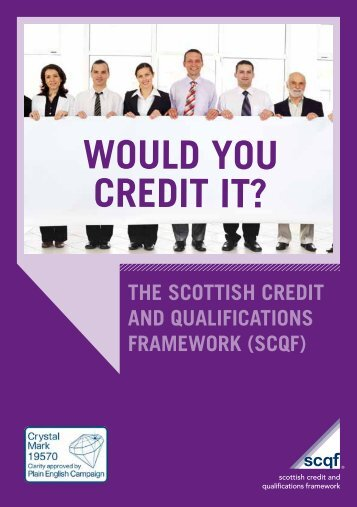 Would you credit it? - Scottish Credit and Qualifications Framework