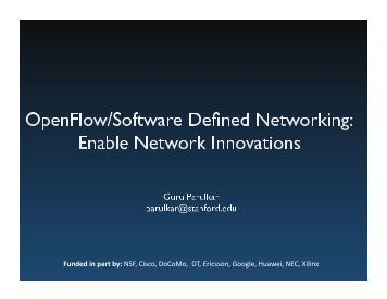Briefing on OpenFlow/SDN - nitrd