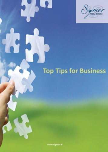 Top Tips For Business - Sigmar Recruitment