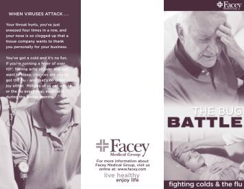 Cold & Flu Brochure - Facey Medical Group