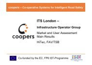 ITS London – Infrastructure Operator Group - Coopers