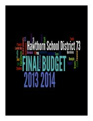 2013-14 budget - Hawthorn School District 73