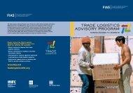 Trade LogisTics advisory Program - Investment Climate