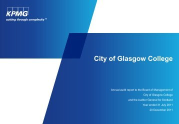 City of Glasgow College (PDF | 163 KB) - Audit Scotland