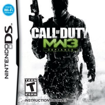 INSTRUCTION BOOKLET - Call of Duty