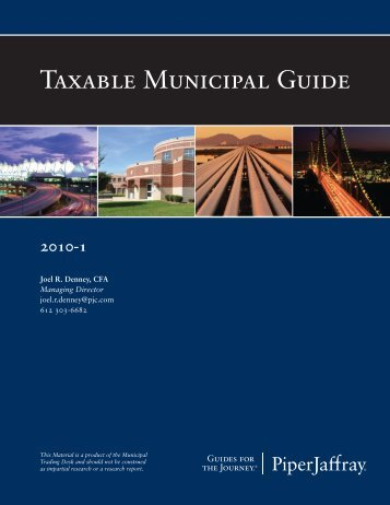 Taxable Municipal Guide - Piper Jaffray