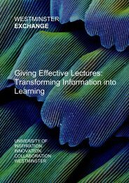 Giving Effective Lectures - University of Westminster