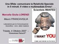 comunicare la relatività speciale in 5 minuti - Il video e multimediale