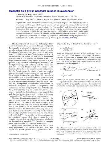 Magnetic field driven nanowire rotation in suspension
