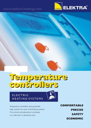 Temperature controllers - leaflet - Elektra
