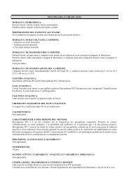 MYCOPLASMA (coltura) - Casa di cura - SALUS