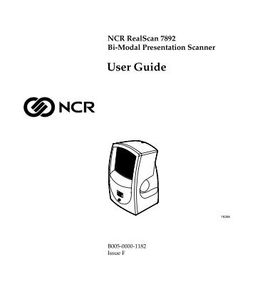 NCR 7878 Scanner/Scale NCR USB Interface Programming