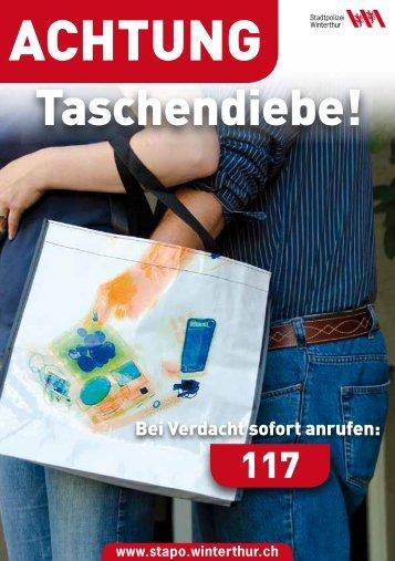 Flyer Taschendiebstahl(PDF, 151 KB) - Stadtpolizei Winterthur