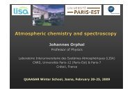 Atmospheric chemistry and spectroscopy