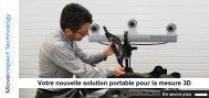 Votre nouvelle solution portable pour la mesure 3D Inspection!