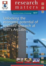 Unlocking the economic potential of scientific research at WIT's ...